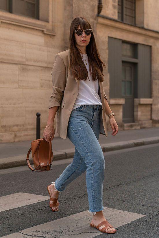 Looks con blazer y jeans de mezclilla