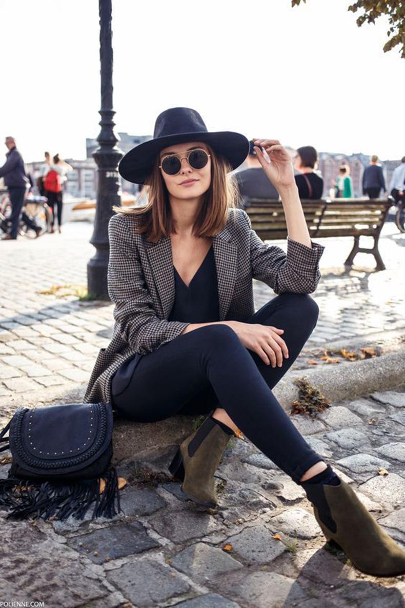 Ideas de outfits casuales con blazers y botines