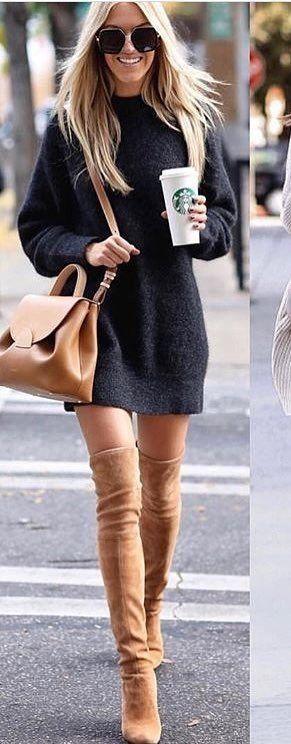 Viste con botas de suela baja con ropa oversized