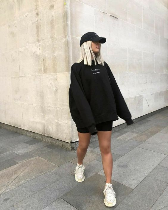 Outfits con pants holgados