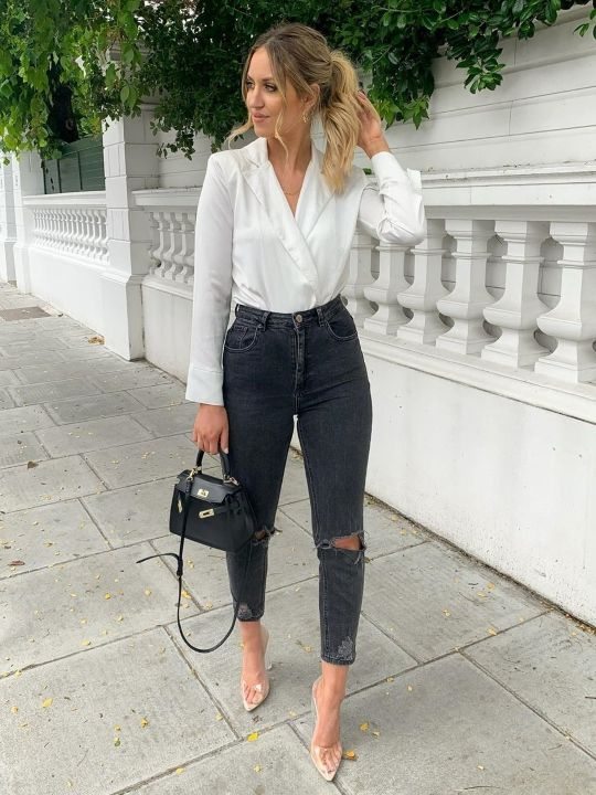 Looks casuales con jeans negros