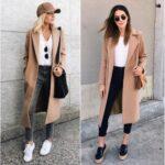 Ideas de looks con tenis y abrigos largos