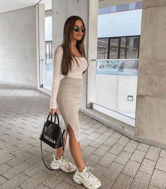 Ideas de outfits con tenis blancos