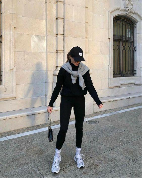 Outfits cómodos con pants para invierno