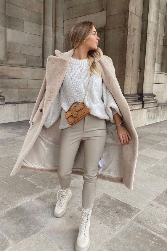 Outfits cómodos y chic para el tiempo de frío - Moda para mujeres de 30