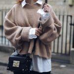 Looks cómodos con suéteres tejidos para invierno