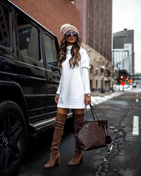 Vestidos estilo sweater para invierno