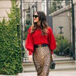 Enfatiza tu cintura con faldas animal print con cinturón