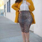 Outfits con falda animal print para ir a trabajar