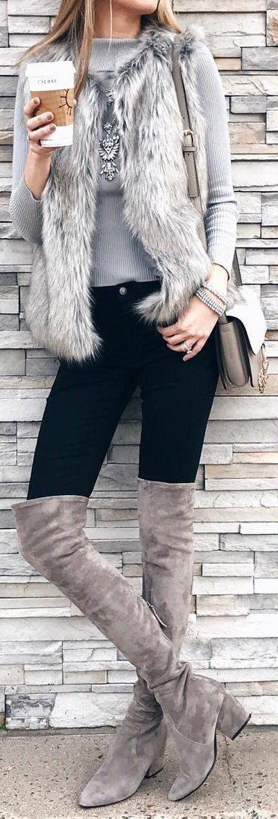 Looks con botas largas para invierno
