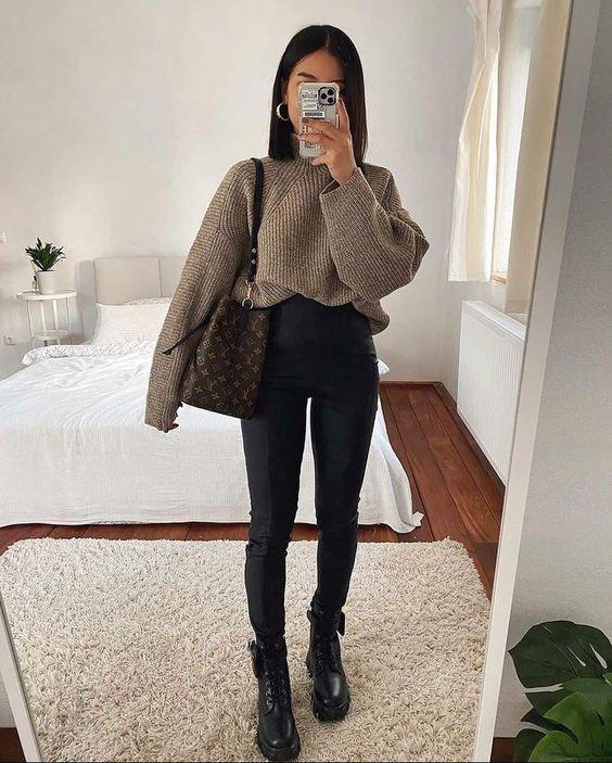 Suéteres tejidos para invierno