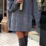 Outfits con suéter largo estilo vestido