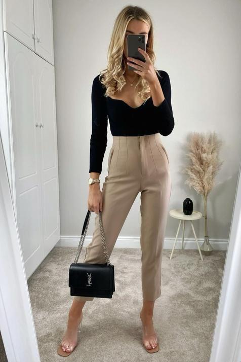 Pantalones de tiro alto Zara