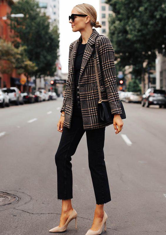 Outfits con blazers de zara