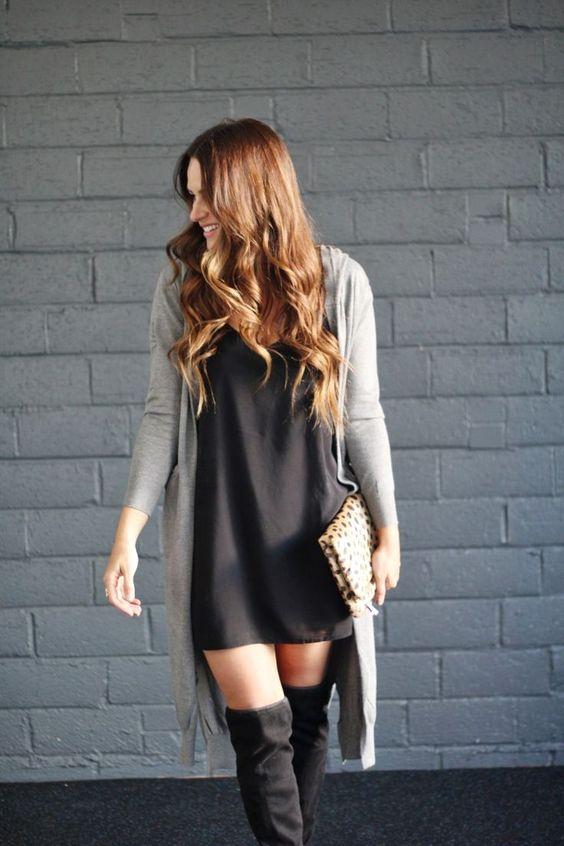 Vestidos largos con botas largas