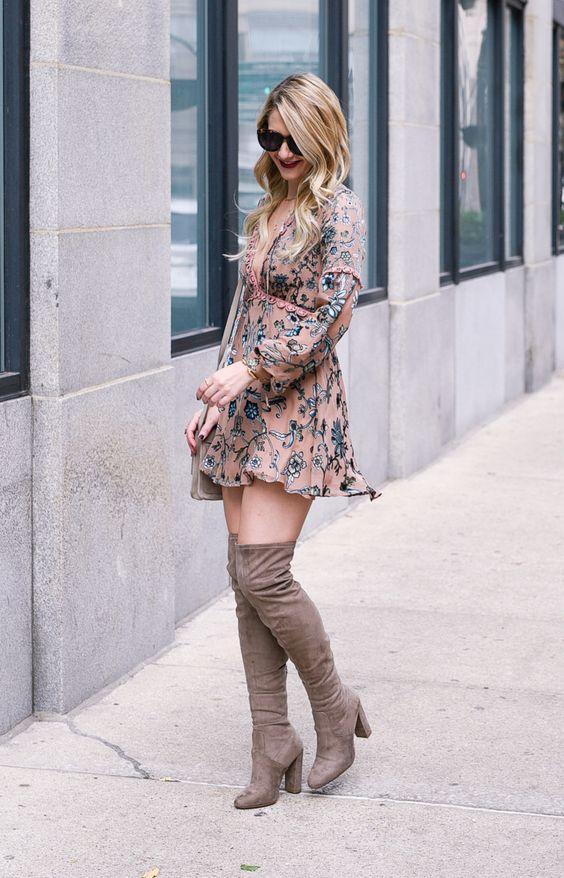 Mini vestidos con botines