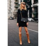 Outfits para combinar vestidos con botas y verte increíble en otoño