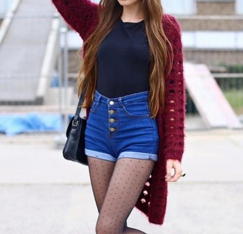 Ideas de looks con shorts de mezclilla para la escuela