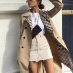 Ideas de outfits con faldas y gabardina