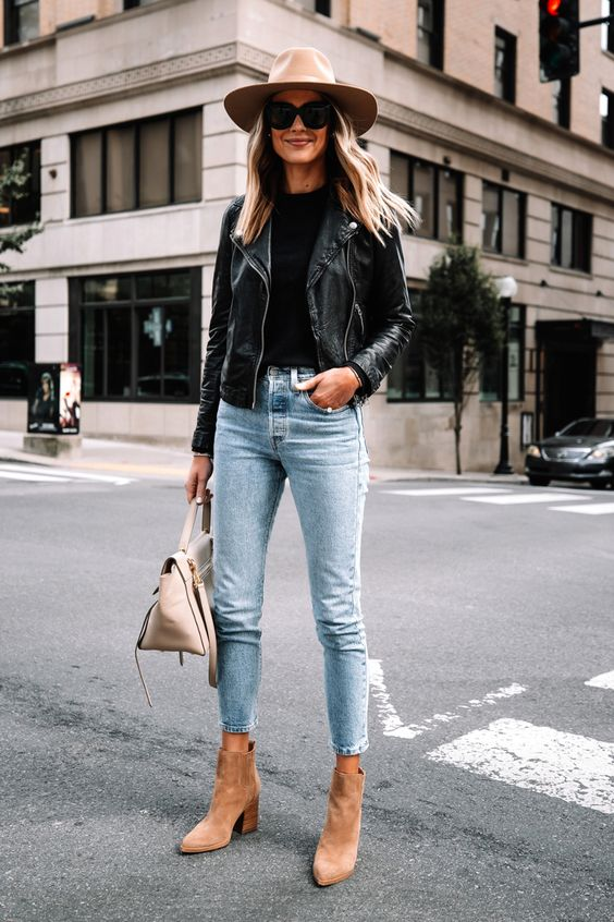Outfits con jeans para otoño
