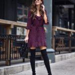 Vestidos cortos con botas largas