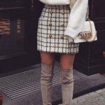 Faldas a cuadros para otoño