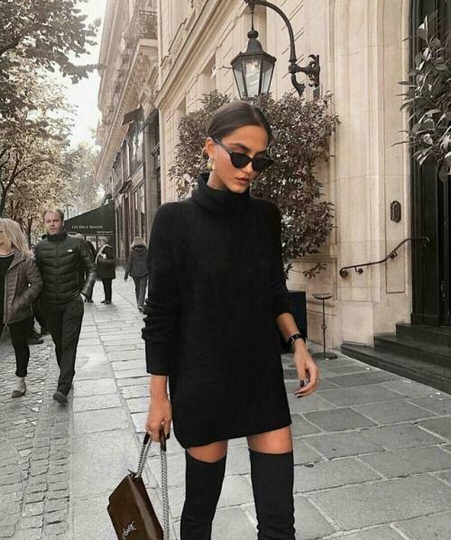 Un suéter tipo vestido
