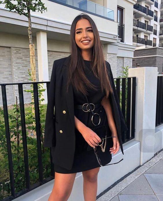 Vestidos casuales corto con blazer