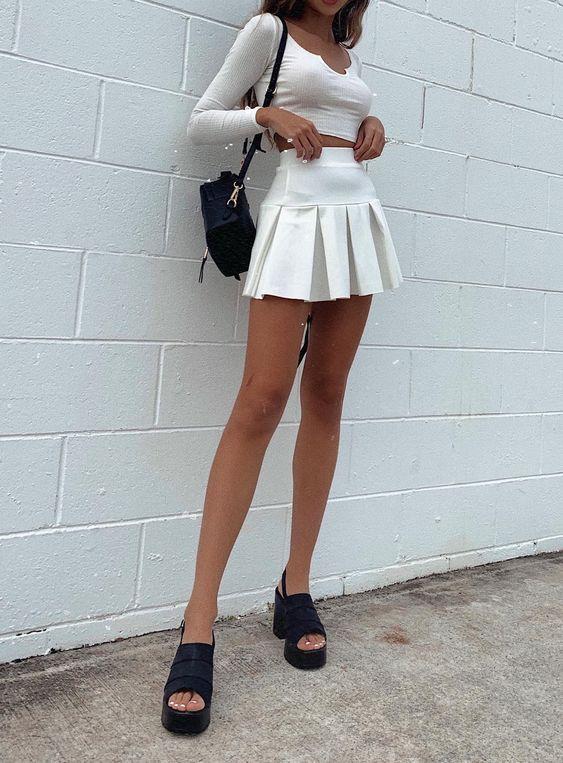 Outfits con faldas de patoles