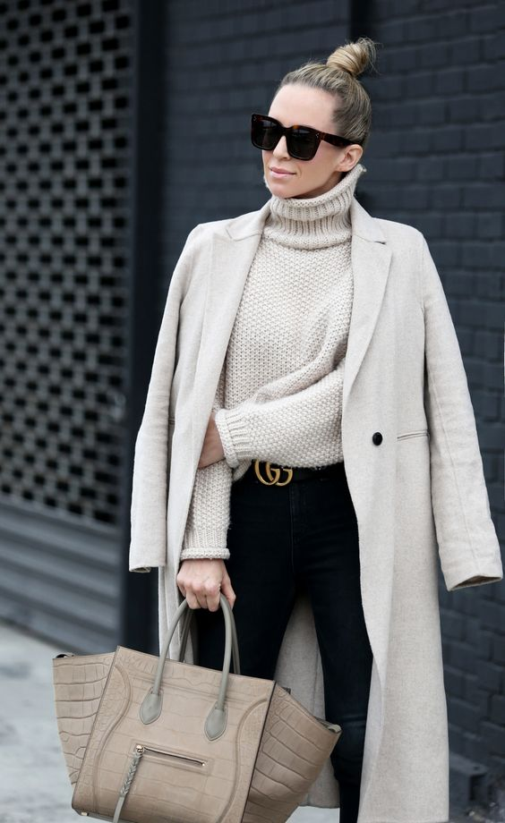 Outfits elegantes con cinto gucci