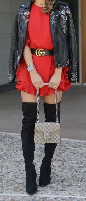 Looks con falda y cinto gucci